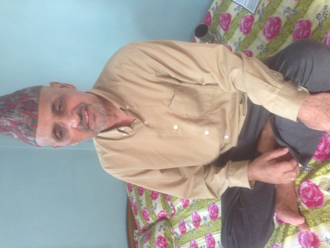 Him Prasad Gautam undergone treatment of Brain Cancer
