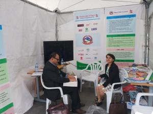 Visit to the booth of GoN at AMCDRR 2018 Sukhbataar Square, Ulaanbaatar